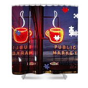 Market Cup Shower Curtain