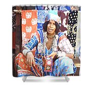 Market, Goa Shower Curtain