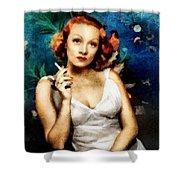 Marlene Dietrich, Vintage Actress Shower Curtain