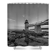 Marshall Point Lighthouse Reflections Shower Curtain