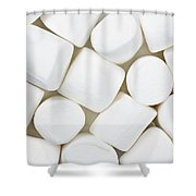 Marshmallows Shower Curtain