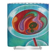 Martini On The Beach Shower Curtain