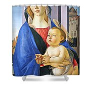 Mary With Baby Jesus Shower Curtain
