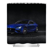 Maserati Ghibli Shower Curtain