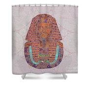 Mask Of Tutankhamun, Pop Art By Mb Shower Curtain