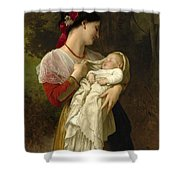 Maternal Admiration Shower Curtain