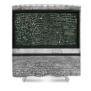 Maths Formula On Chalkboard Shower Curtain