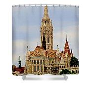 Matthias Church - Budapest Shower Curtain