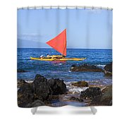 Maui Sailing Canoe Shower Curtain