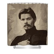 Maxim Gorky Shower Curtain