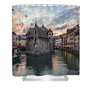 Medieval Jail In Annecy Shower Curtain