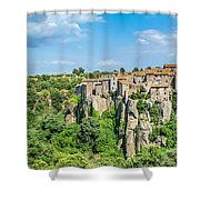 Medieval Town Of Vitorchiano In Lazio, Italy Shower Curtain