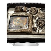 Melted Camera Shower Curtain
