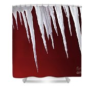 Melting Icicles Shower Curtain