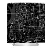 Memphis Tennessee Usa Dark Map Shower Curtain