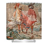 Mercy - David Spareth Saul's Life Shower Curtain