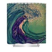 Mermaid Wave Shower Curtain