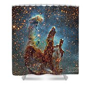 Messier 16, The Eagle Nebula In Serpens Shower Curtain