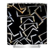 Metal Profile Channel In Packs At The Warehouse Of Metal Products Shower Curtain