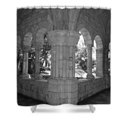 Miami Monastery In Black And White Shower Curtain