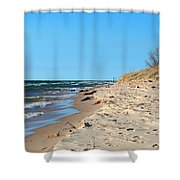 Michigan Beach Shower Curtain