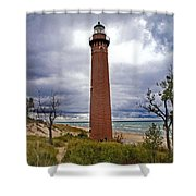 Michigan Lighthouse Shower Curtain