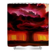 Microburst Shower Curtain
