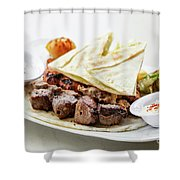Middle Eastern Food Mixed Bbq Barbecue Grilled Meat Set Meal Shower Curtain