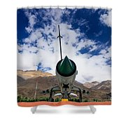 Mig-21 Fighter Plane Of Indian Air Force Used In Kargil War Displayed As Victorious Memory Shower Curtain