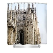 Milan Cathedra, Domm De Milan Is The Cathedral Church, Italy Shower Curtain