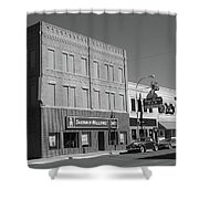 Miles City, Montana - Downtown 2 Bw Shower Curtain