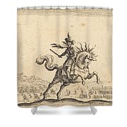Military Commander On Horseback Shower Curtain