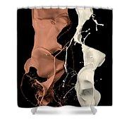 Milk And Liquid Chocolate Splash Shower Curtain