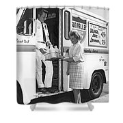 Milkman Home Delivery Shower Curtain