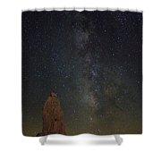 Milky Way At Trona Pinacles  Shower Curtain