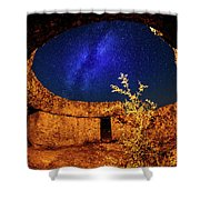 Milky Way Shower Curtain by Okan YILMAZ