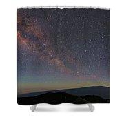 Milky Way Over Mauna Loa Shower Curtain