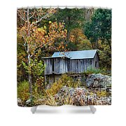 Mill In The Fall Shower Curtain