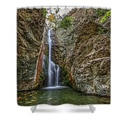 Millomeris Waterfall - Cyprus Shower Curtain
