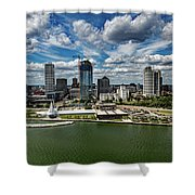 Milwaukee Wisconsin Shower Curtain