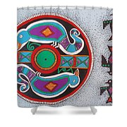 Mimbres Inspired #1a Shower Curtain
