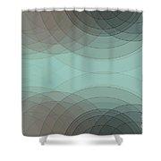 Mineral Semi Circle Background Horizontal Shower Curtain