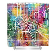 Minneapolis Minnesota City Map Shower Curtain