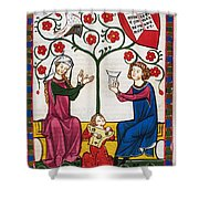 Minnesinger Lieder Shower Curtain