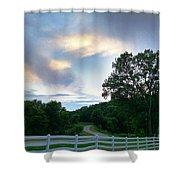 Minnesota Valley Sunset Shower Curtain