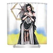 Miss Flirt Shower Curtain
