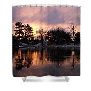 Mississippi River Dawn Light Shower Curtain