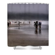 Misty Beach Shower Curtain