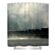 Misty Crossing Shower Curtain
