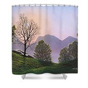 Misty Spring Meadow Shower Curtain